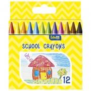 Boje voštane 12boja kartonska kutija Color Educa