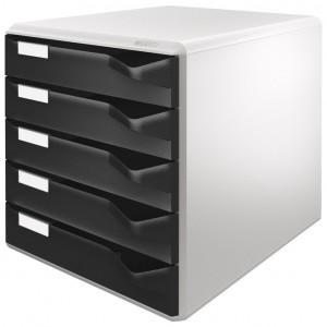 Kutija s 5 ladica Post set Leitz crna