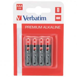 Baterija alkalna 1,5V AAA pk4 Verbatim 49920 LR03