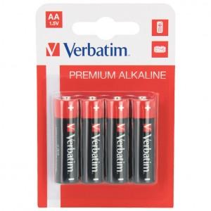 Baterija alkalna 1,5V AA pk4 Verbatim 49921 LR6