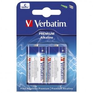 Baterija alkalna 1,5V C pk2 Verbatim LR14