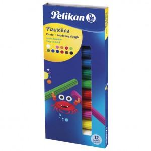 Plastelin 12boja (total 120g) karton Pelikan