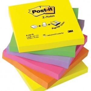 """Blok samoljepljiv """"Z"""" 76x76mm 6x100L Post-it Rainbow"""