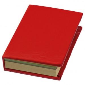 Blok samoljepljiv + 5 zastavica u korici crveni