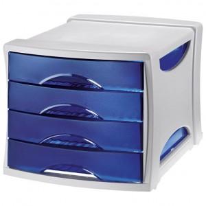 Kutija s 4 ladice Intego Esselte 284530 sivo-prozirno dimljena
