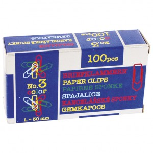 Spajalice ručne boja br.3 pk100 Nikomill boja
