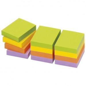 Blok samoljepljiv 40x50mm 12x100L Spring Global Notes neon sortirano