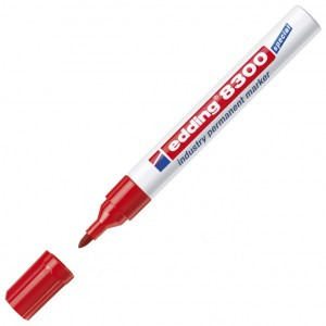 Marker industrijski permanentni 1,5-3mm Edding 8300 crveni
