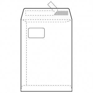 Kuverte - vrećice C4-PL BB strip 90g pk250