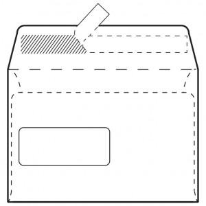 Kuverte C5-BB/PL strip 90g pk1000