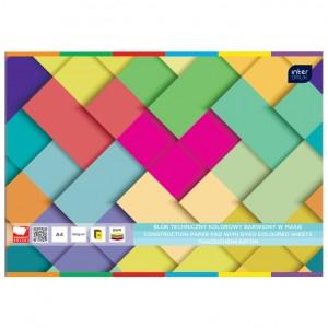 Kolaž - blok A4 10 listova 160g papir u boji Interdruk