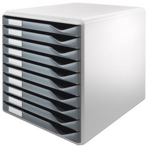 Kutija s 10 ladica Form set Leitz siva