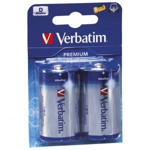 Baterija alkalna 1,5V D pk2 Verbatim LR20