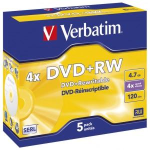 DVD+RW 4,7/120 4x JC Mat Silver Verbatim