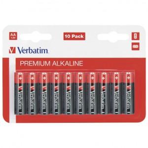 Baterija alkalna 1,5V AA pk10 Verbatim