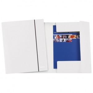 Fascikl klapa s gumicom karton A4 Wow Leitz 39830001 biserno bijeli