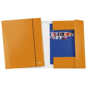 Fascikl klapa s gumicom karton A4 Wow Leitz 39830044 metalik narančasti