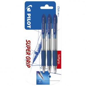 Olovka kemijska Super Grip pk3 Pilot plava blister