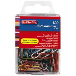 Spajalice ručne pvc kutija pk100 Herlitz boja blister