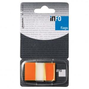 Zastavica 25,4x43,2mm 50L Global Notes narančasto-prozirna blister